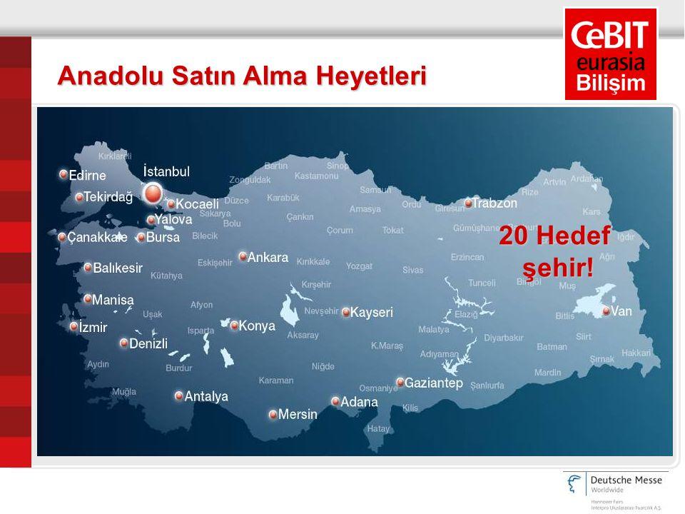 Anadolu Satın Alma Heyetleri 20 Hedef şehir!