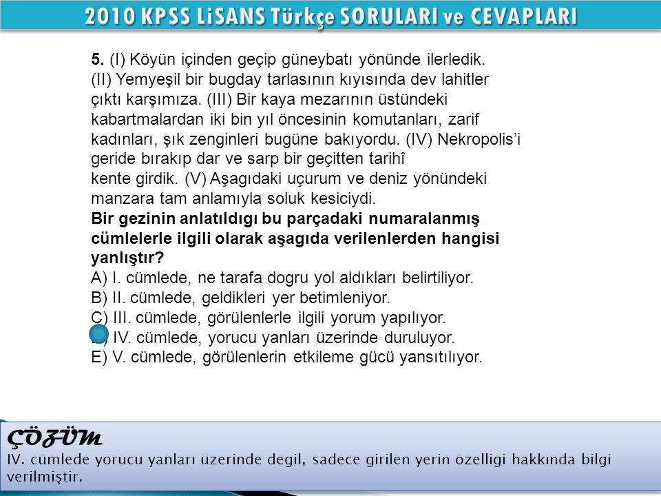 ÇÖZÜM IV.