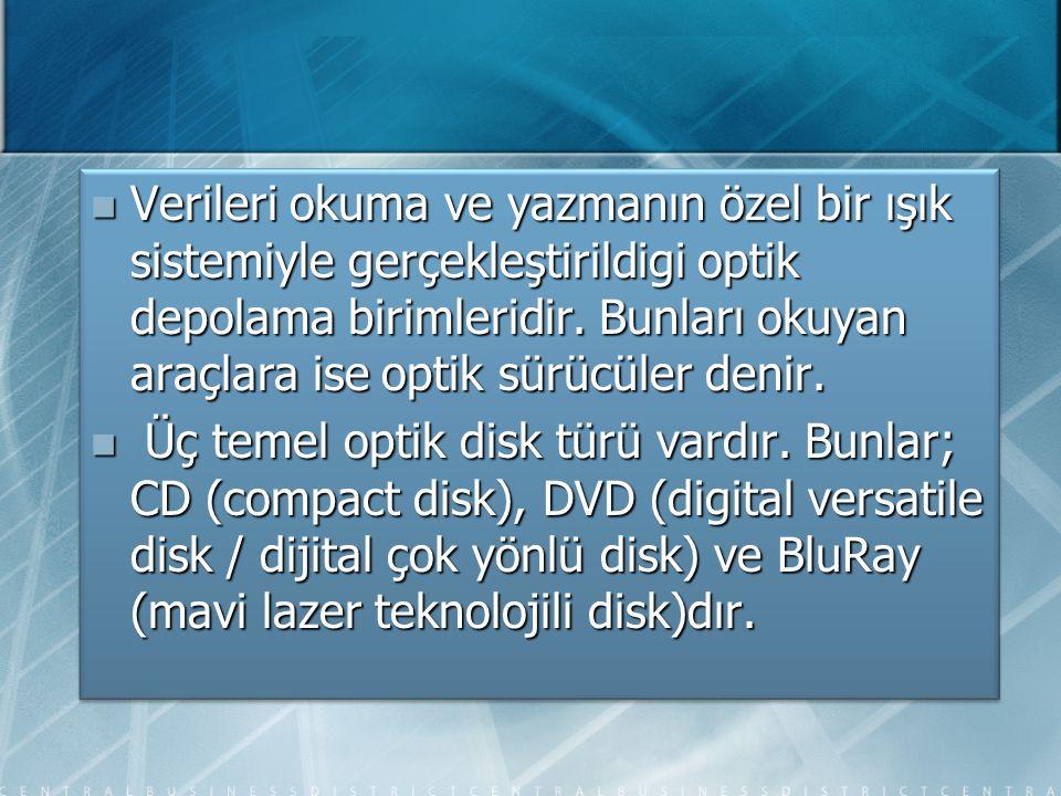 CD-ROM(Compact Disc Read Only Media=Sadece Okunabilir Optik Disk)  Verileri kalıcı olarak kaydetmeye yarayan elektronik kayıt ortamıdır.