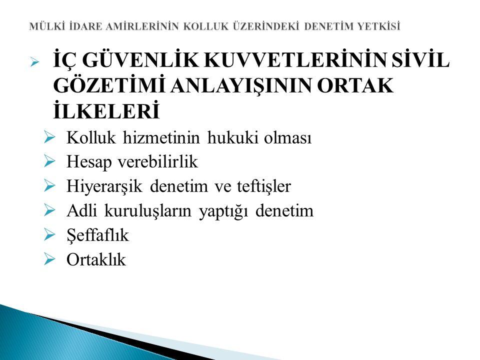  VALİ ve KAYMAKAMLARIN SİVİL GÖZETİMDEKİ ÖNEMİ  Türkiye idari sisteminde vali ve kaymakamlar yerel düzeyde dikey gözetimin en önemli aktörüdürler.