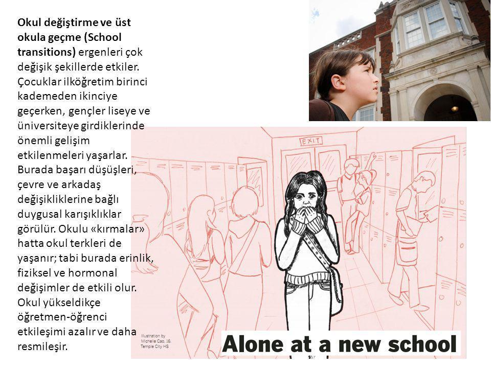 Okul değiştirme ve üst okula geçme (School transitions) ergenleri çok değişik şekillerde etkiler. Çocuklar ilköğretim birinci kademeden ikinciye geçer