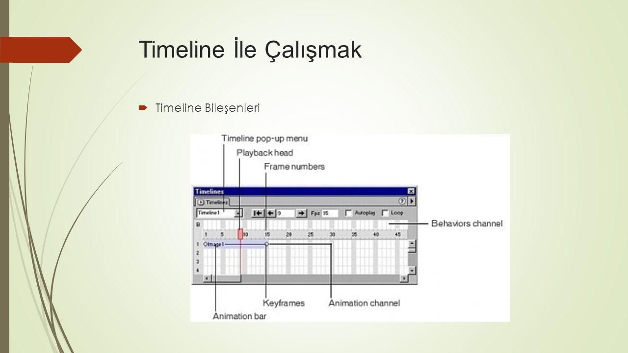  Timeline Bileşenleri