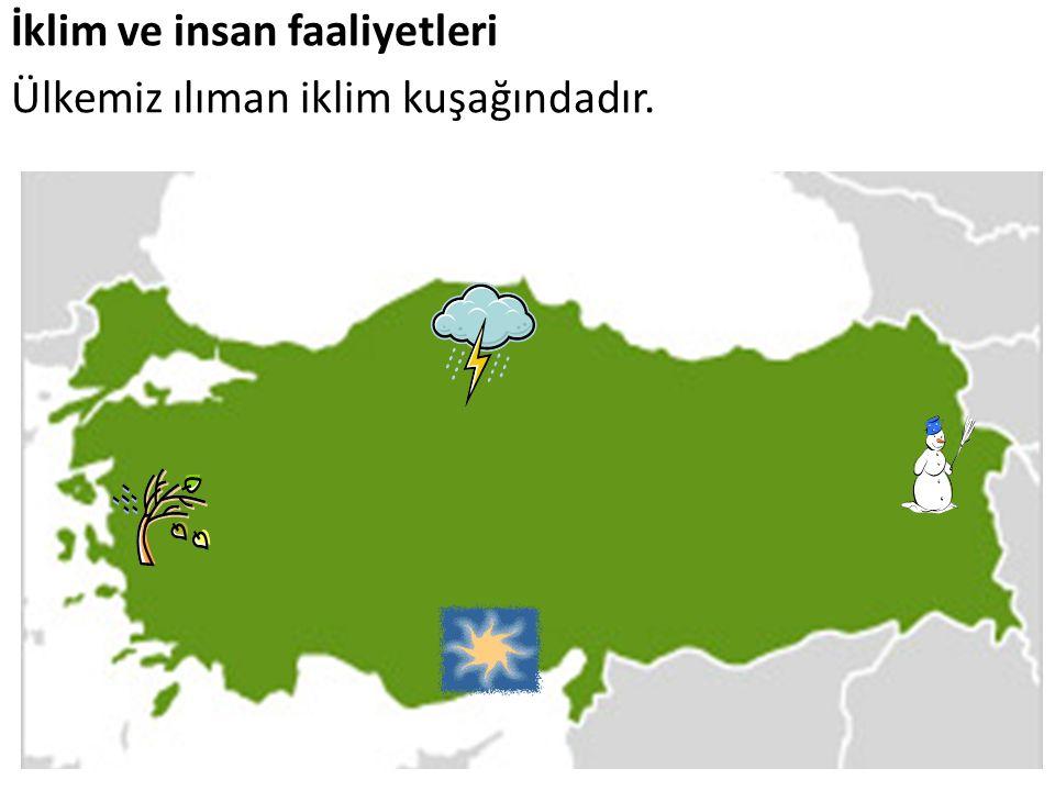 Türkiye de görülen iklim tipleri Türkiye de başlıca 3 tip iklim görülmektedir.