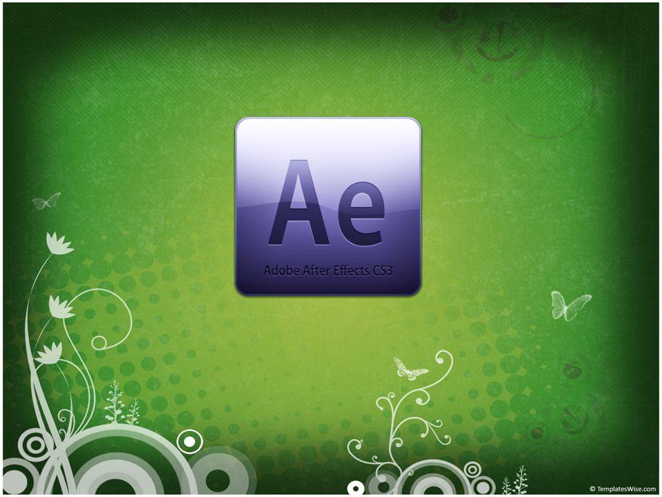 Adobe After Effects Adobe After Effects, video düzenlemeye, efektlendirmeye hatta video yaratmaya yarayan bir düzenleme programıdır.