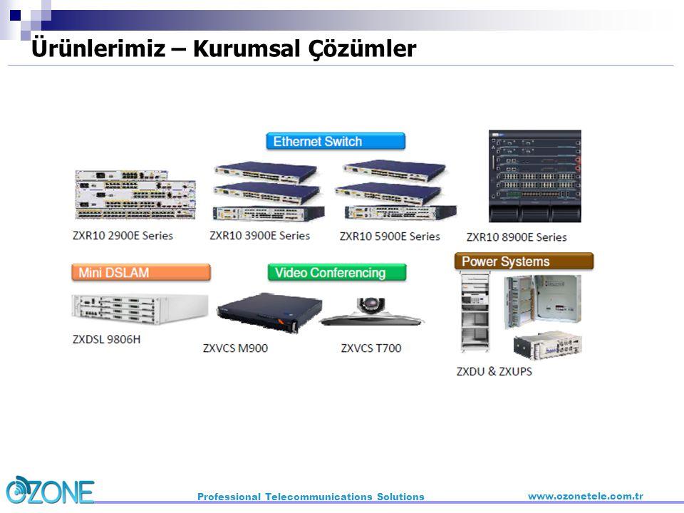 Professional Telecommunications Solutions www.ozonetele.com.tr Ürünlerimiz – Kurumsal Çözümler