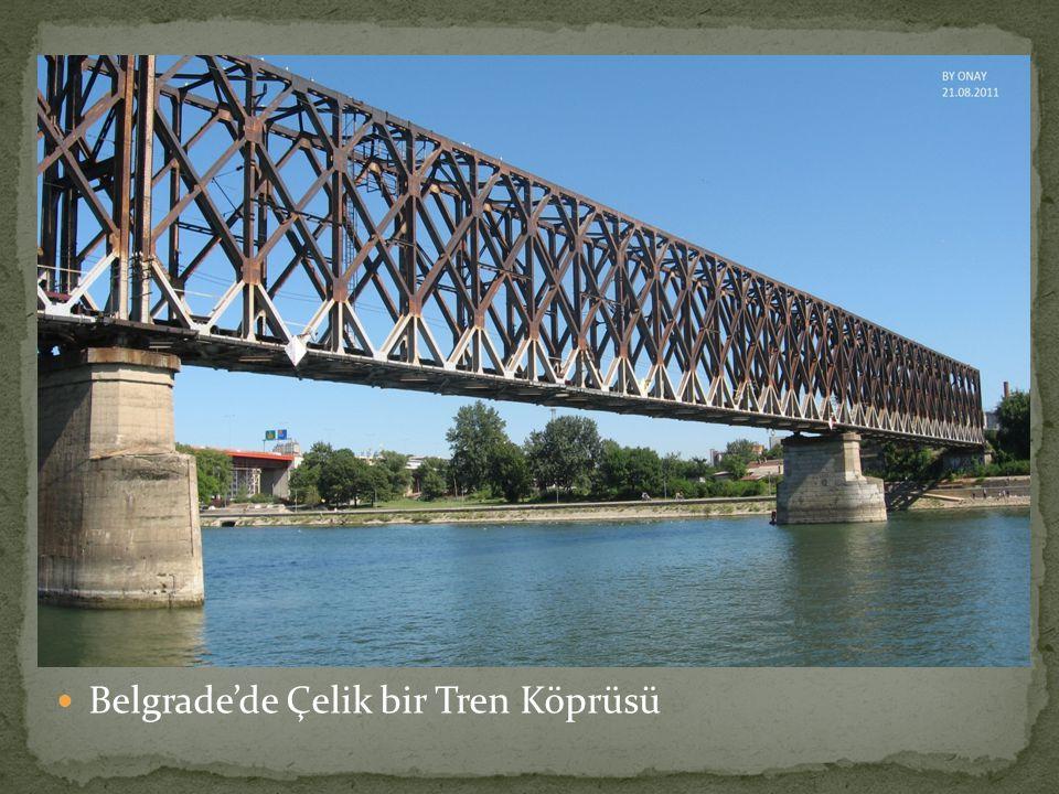  Belgrade'de Çelik bir Tren Köprüsü