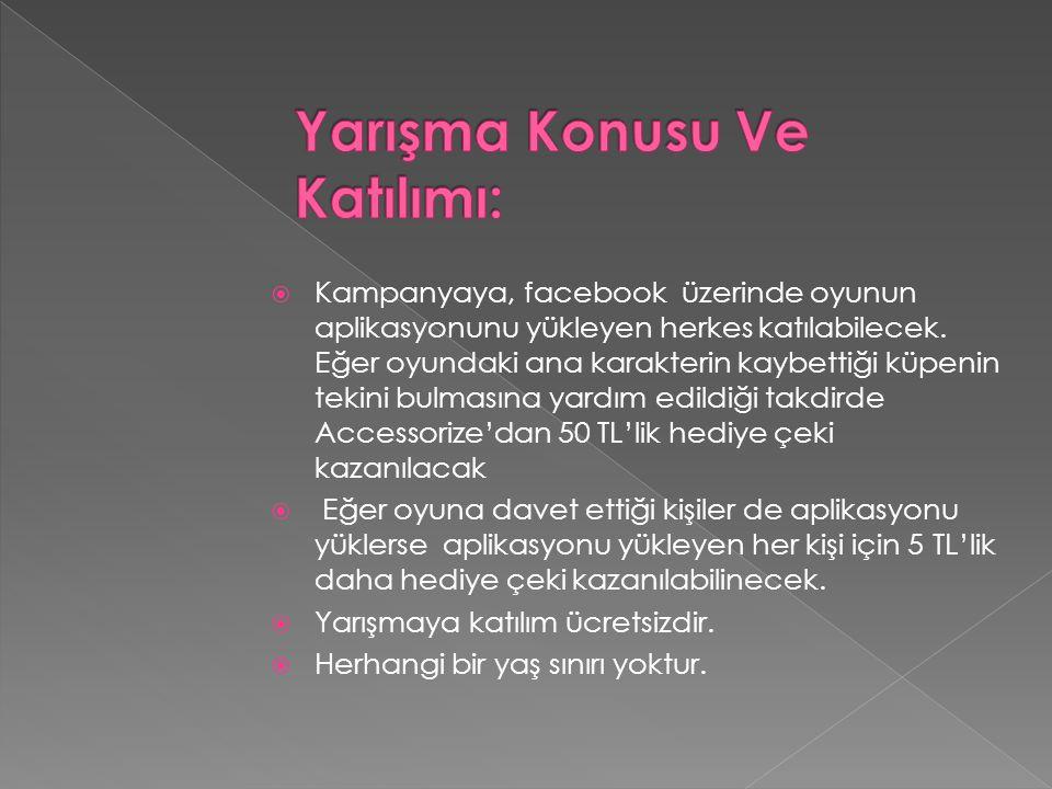  Kampanyaya, facebook üzerinde oyunun aplikasyonunu yükleyen herkes katılabilecek.