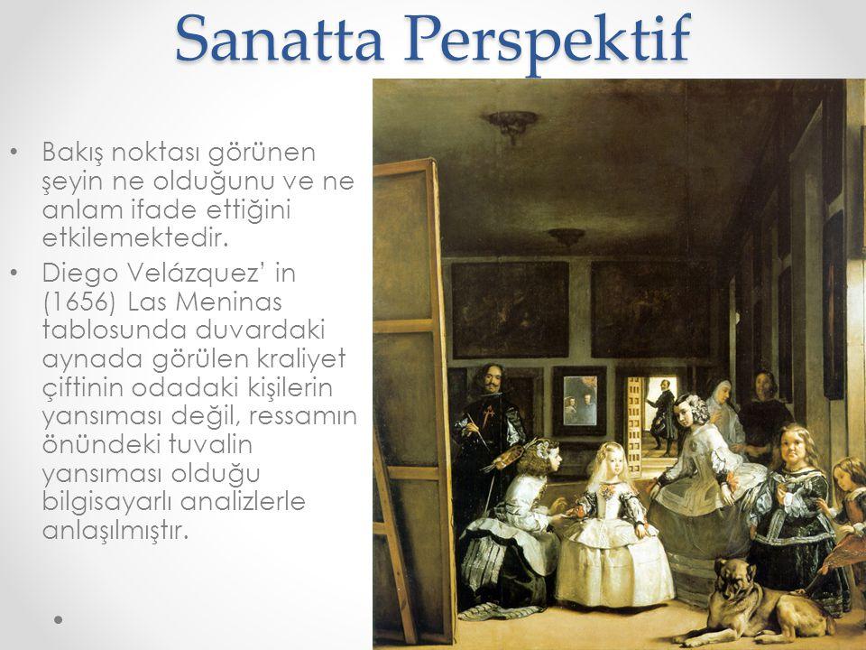 Sanatta Perspektif • Algı kontrolünde perspektif olağandışı yollarla kullanılabilmektedir.