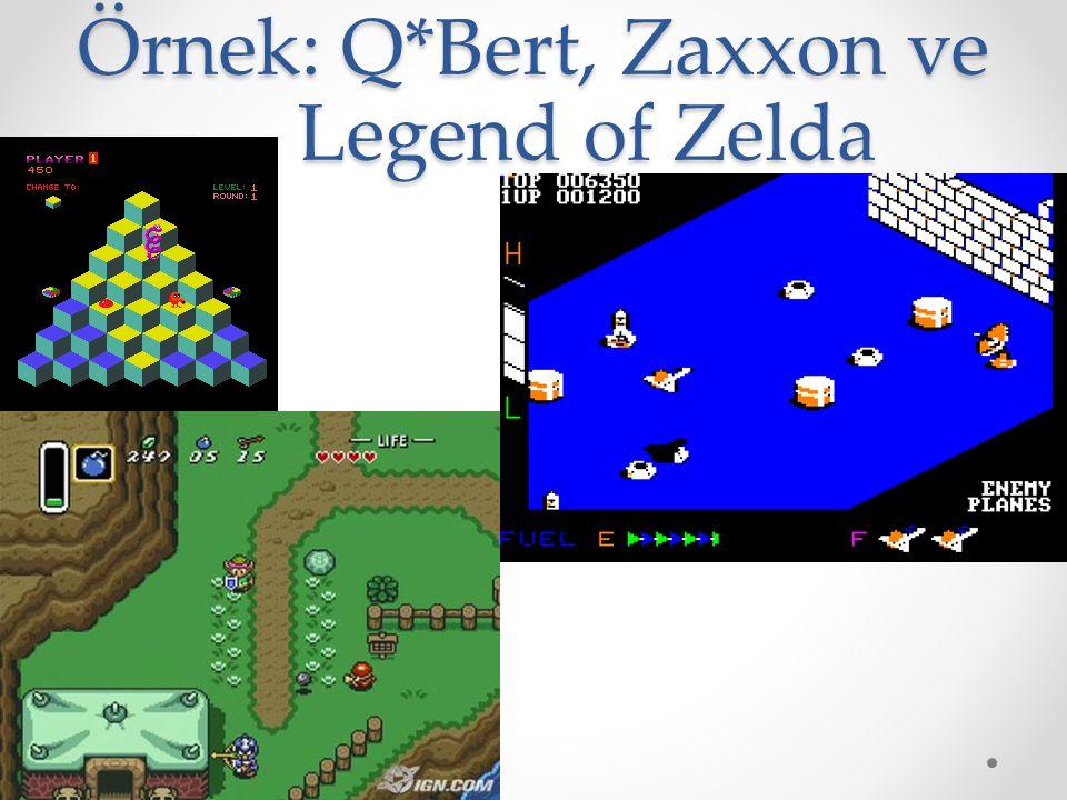 Örnek: Q*Bert, Zaxxon ve Legend of Zelda