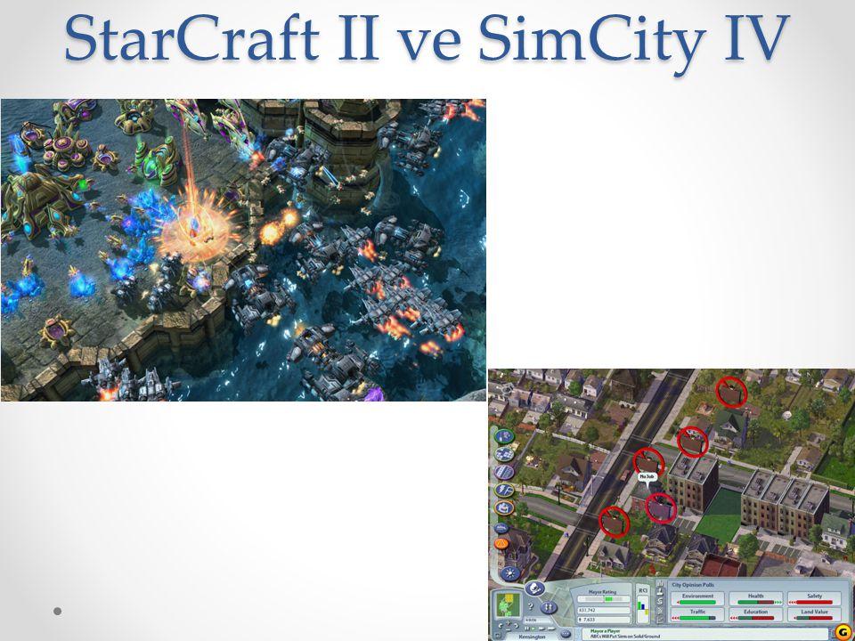 StarCraft II ve SimCity IV