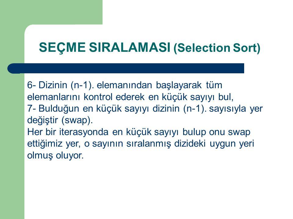6- Dizinin (n-1).