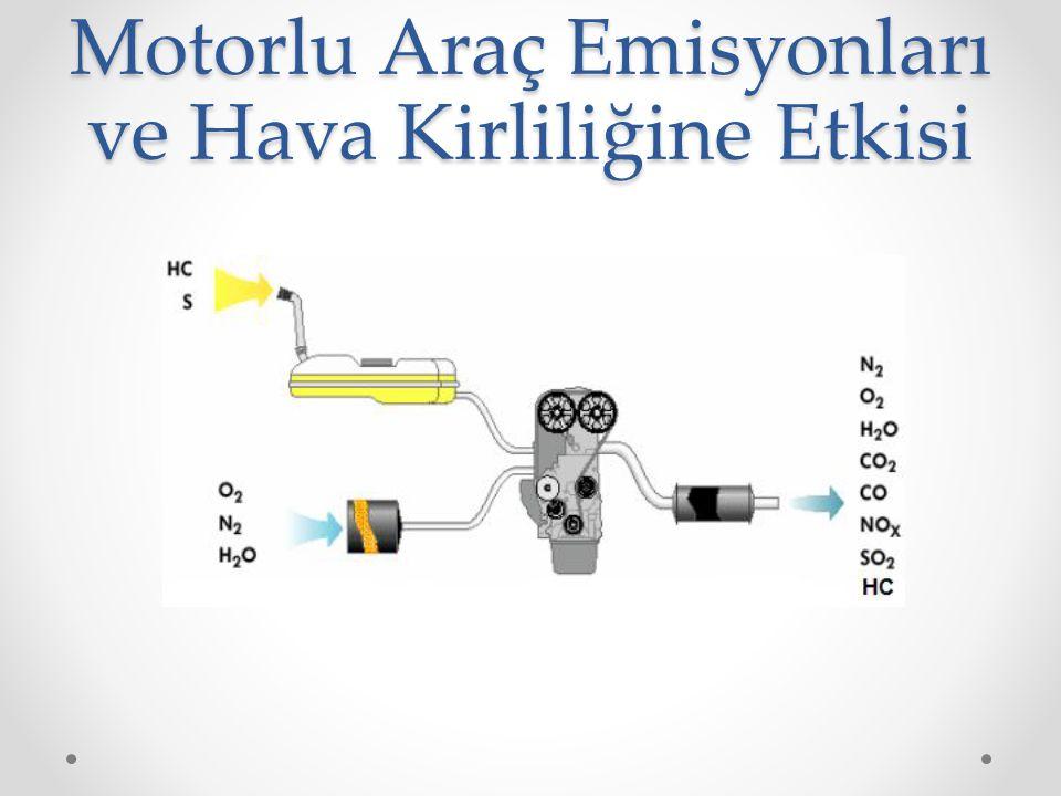 Aldehitler • Yakıt olarak kullanılan hidrokarbonların eksik yanması neticesinde emisyon olarak kısmen yanmış hidrokarbonlar yani aldehitler ortaya çıkar.