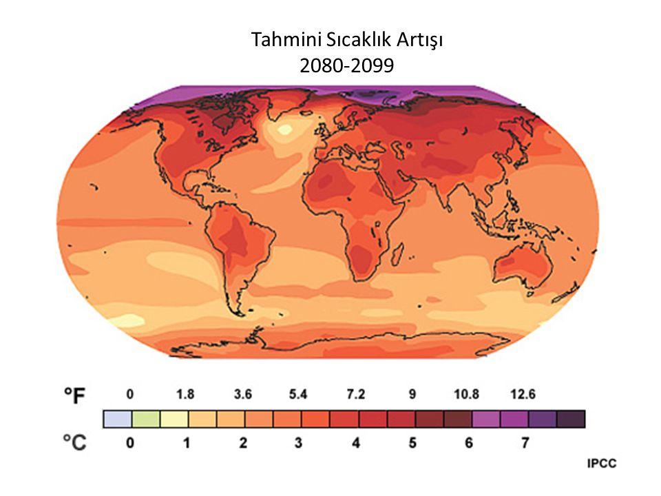 Tahmini Sıcaklık Artışı 2080-2099