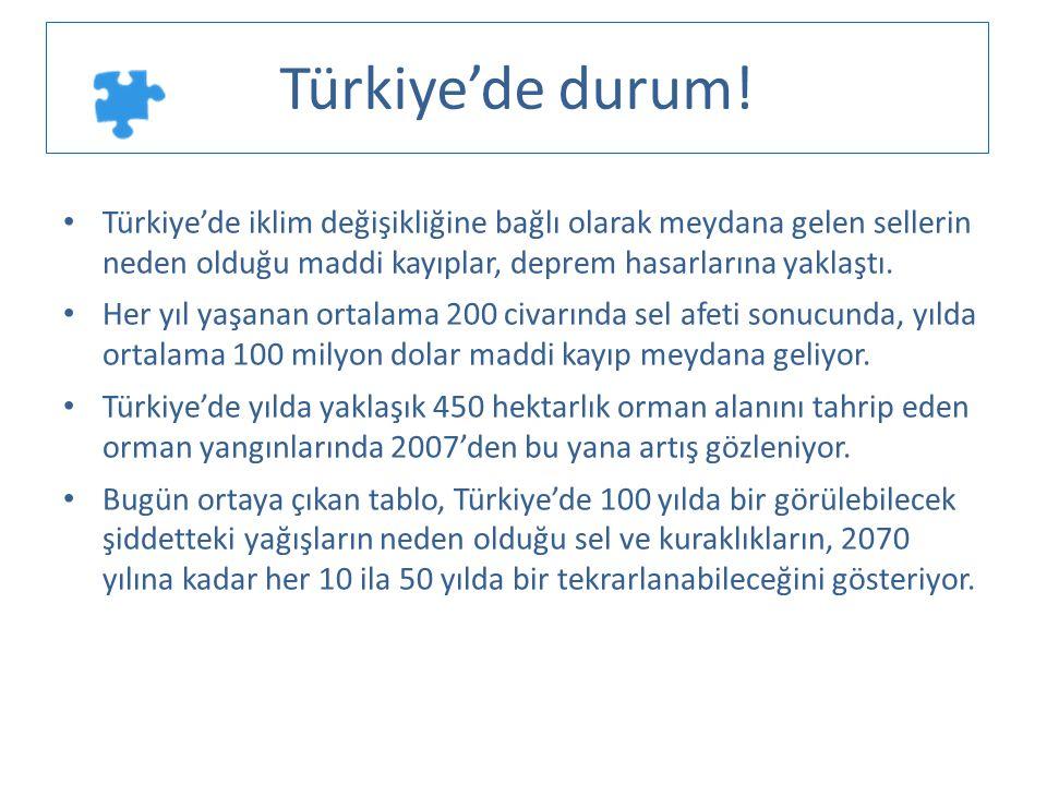 • Türkiye'de iklim değişikliğine bağlı olarak meydana gelen sellerin neden olduğu maddi kayıplar, deprem hasarlarına yaklaştı. • Her yıl yaşanan ortal