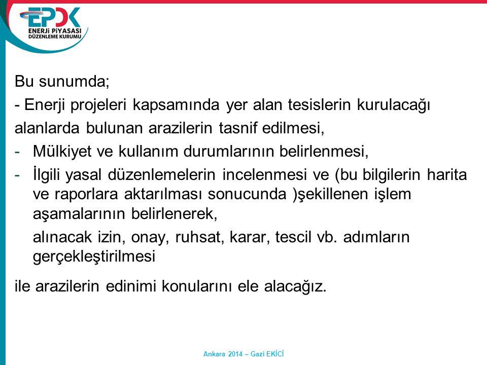 TAŞINMAZ MALLARIN SINIFLANDIRILMASI Hasan SAY Ankara 2014 – Gazi EKİCİ