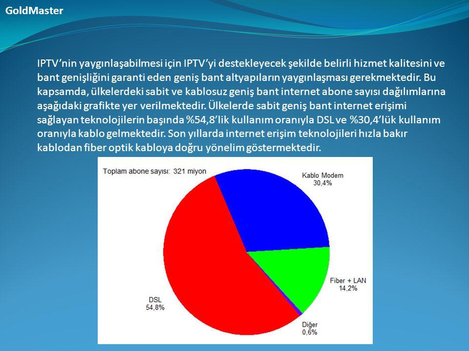 IPTV'nin yaygınlaşabilmesi için IPTV'yi destekleyecek şekilde belirli hizmet kalitesini ve bant genişliğini garanti eden geniş bant altyapıların yaygı