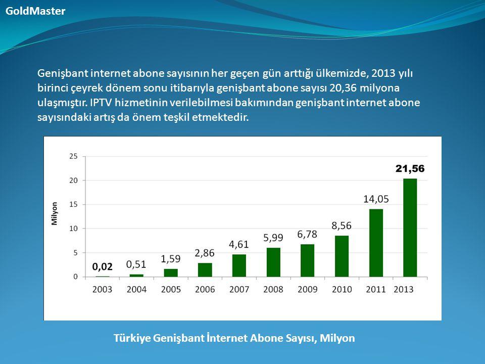 Genişbant internet abone sayısının her geçen gün arttığı ülkemizde, 2013 yılı birinci çeyrek dönem sonu itibarıyla genişbant abone sayısı 20,36 milyon