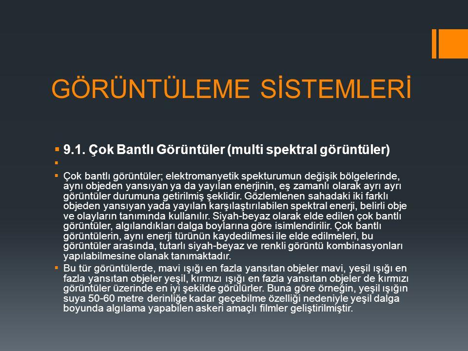 GÖRÜNTÜLEME SİSTEMLERİ  9.1.