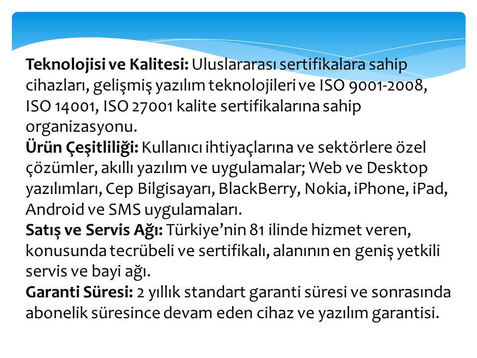 Teknoloji ihraç ediyor Araç takip sistemi alanında Türkiye nin Teknoloji Lideri de olan Arvento, alanında çok sayıda teknolojik yeniliğe ve ilke imza atmıştır ve atmaya devam etmektedir.