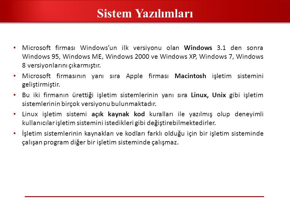 • Bir diğer sistem yazılımı, programlama dili sistemi (language system) olarak anılır.