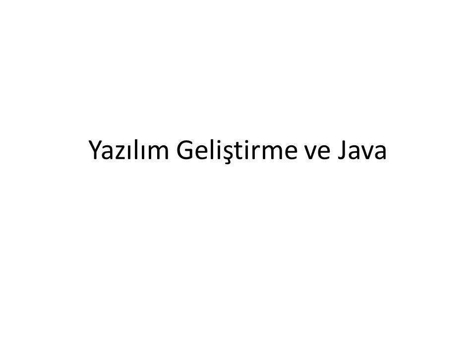 Yazılım Geliştirme ve Java
