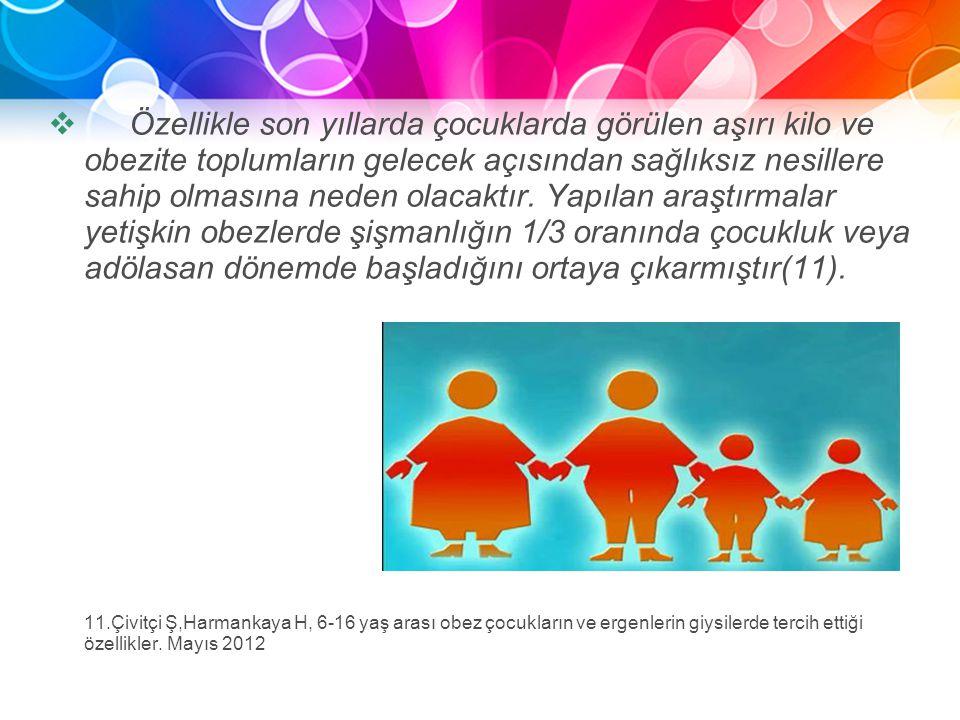 Asıl alt başlık stilini düzenlemek için tıklatın  Özellikle son yıllarda çocuklarda görülen aşırı kilo ve obezite toplumların gelecek açısından sağlı