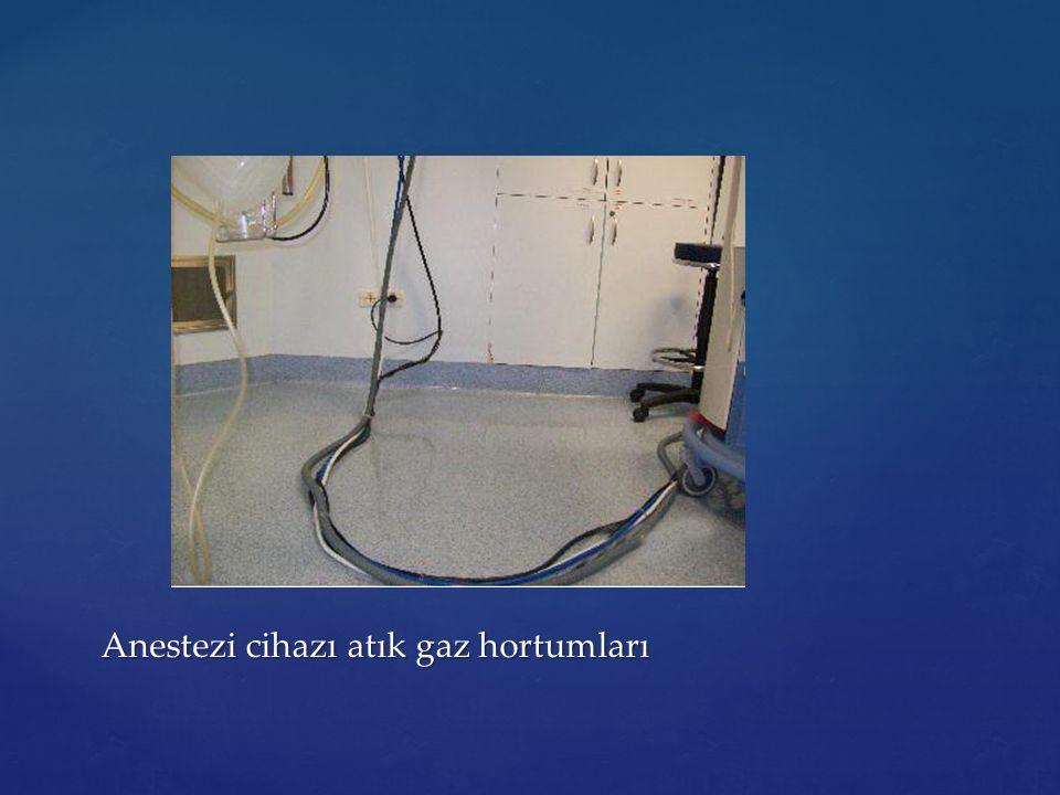 Anestezi cihazı atık gaz hortumları