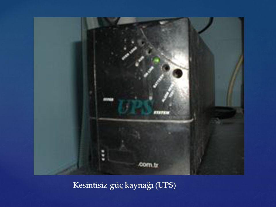 Kesintisiz güç kaynağı (UPS) Kesintisiz güç kaynağı (UPS)