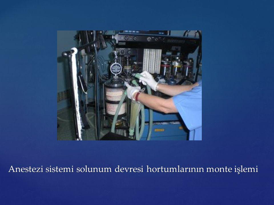 Anestezi sistemi solunum devresi hortumlarının monte işlemi