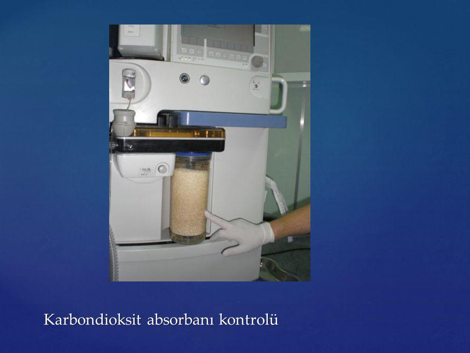 Karbondioksit absorbanı kontrolü