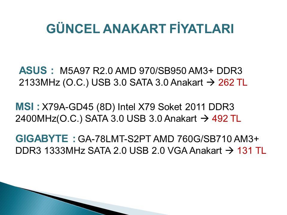 ATX ANAKARTLAR Pentium2 işlemci ile birlikte ilk kez piyasaya sunulmuş ATX standardı da sürekli olarak geliştirilerek günümüzde hala popüler olarak kullanılan standartlardır.
