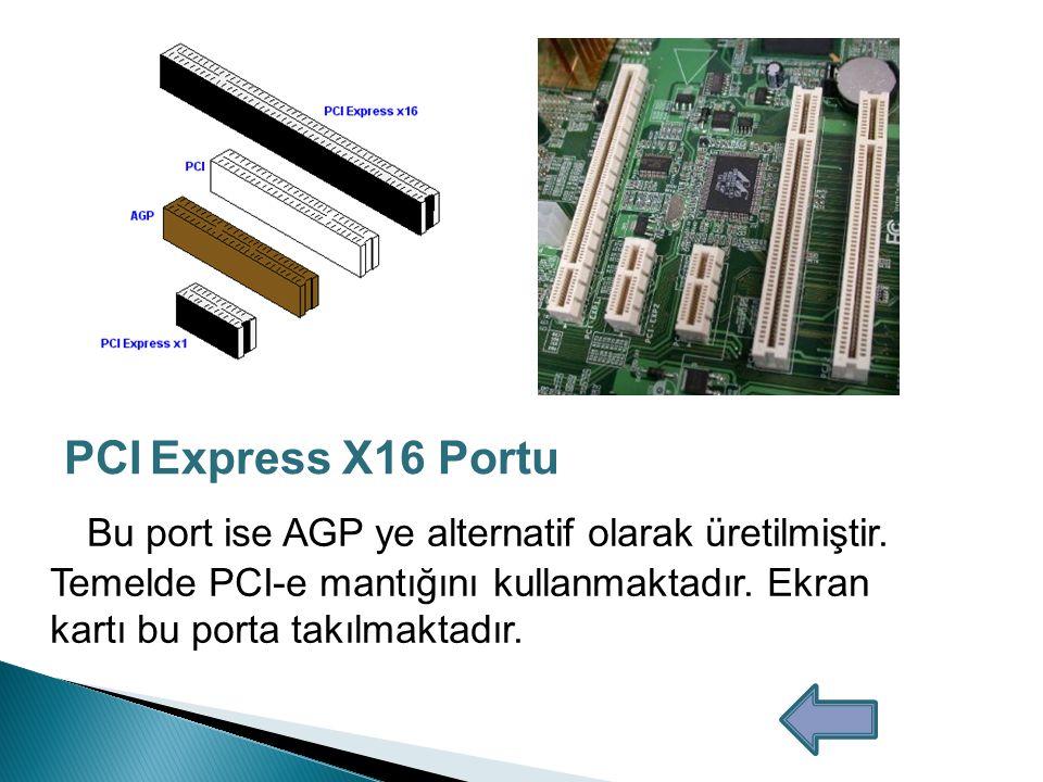 Bu portlar PCI portunun yerini almak için tasarlanmıştır.