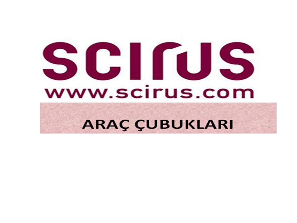 •Scirus arama motoru özel arama kutuları ekleme özelliğine sahiptir.