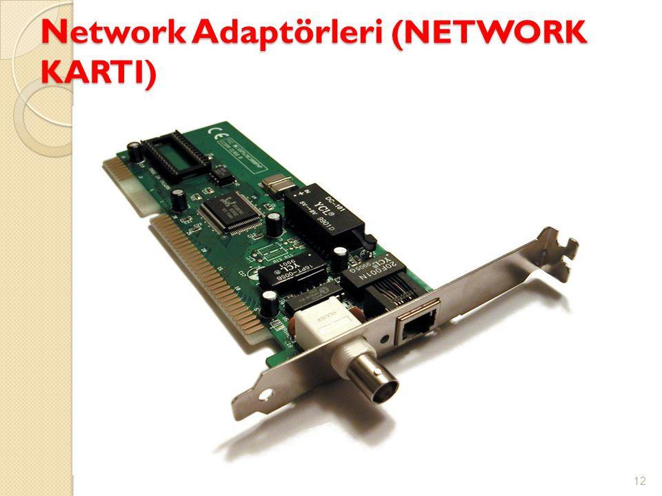 Network Adaptörleri (NETWORK KARTI) 12 Şekil 1: Ağ bağdaştırıcısı