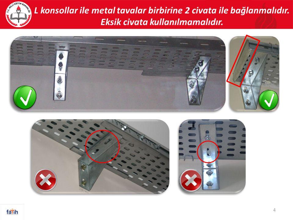 Bağlantı prizi içerisinde yer alan USB ve HDMI soketlerinin tırnaklarının iyi monte edilmesi gerekmektedir.