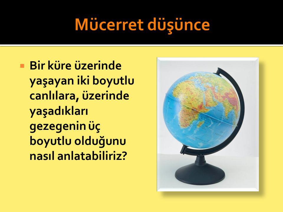  Küreyi daireye benzetmek bir çözüm olabilir. Sonuç:  Küre, bir bakıma daireye benzer.