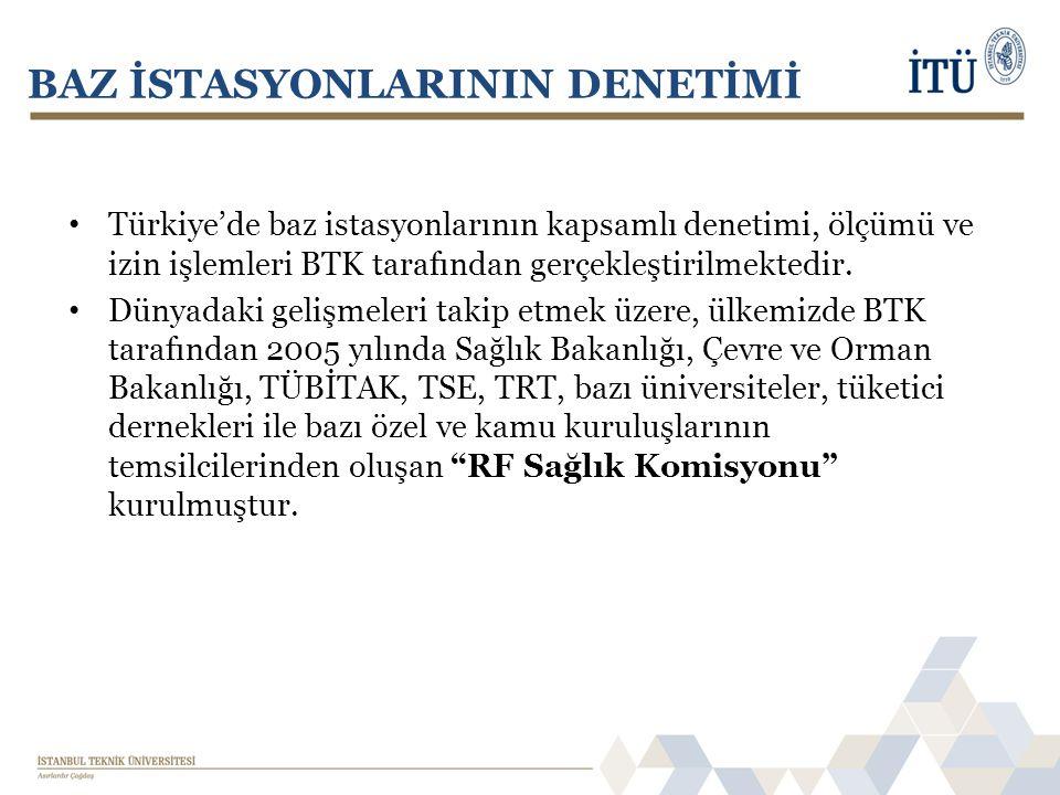 • Türkiye'de baz istasyonlarının kapsamlı denetimi, ölçümü ve izin işlemleri BTK tarafından gerçekleştirilmektedir. • Dünyadaki gelişmeleri takip etme