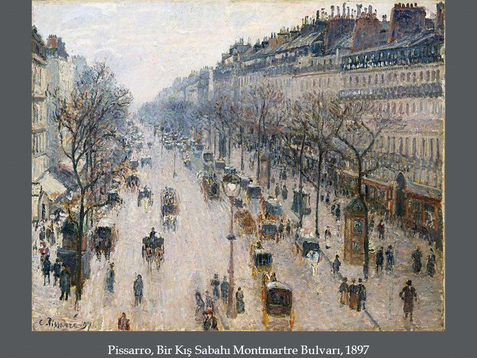 Pissarro, Bir Kış Sabahı Montmartre Bulvarı, 1897
