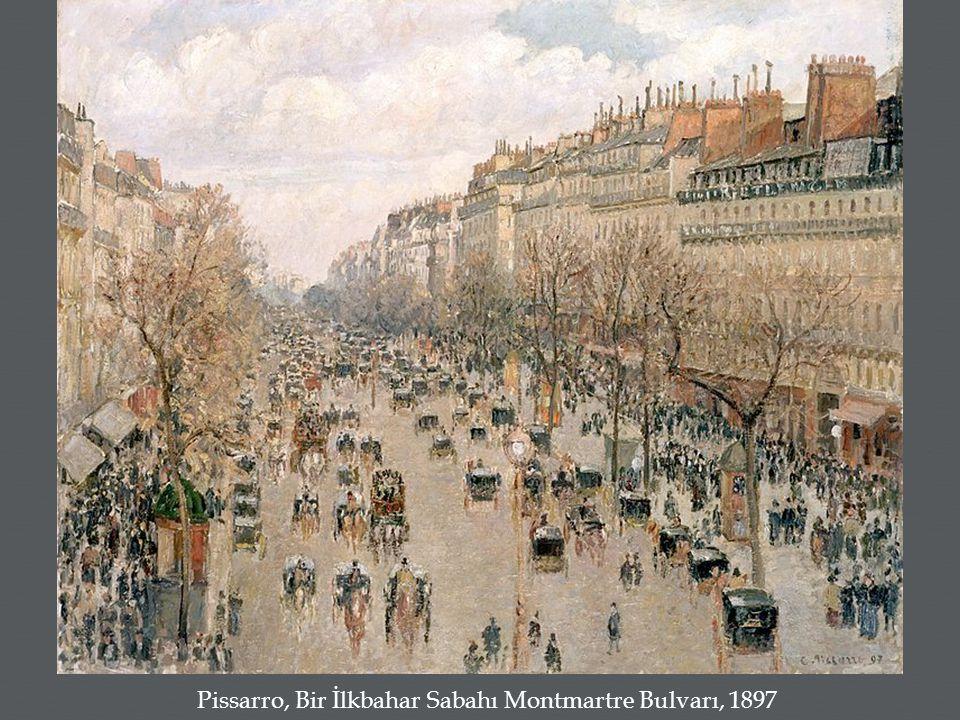 Pissarro, Bir İlkbahar Sabahı Montmartre Bulvarı, 1897