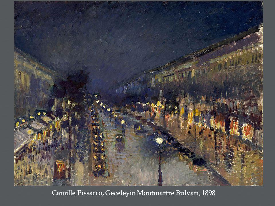 Camille Pissarro, Geceleyin Montmartre Bulvarı, 1898