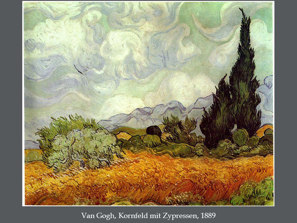 Van Gogh, Kornfeld mit Zypressen, 1889