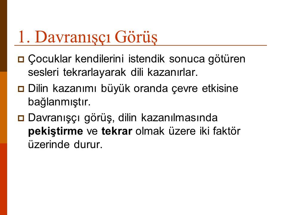  6.Telegrafik Konuşma: Dil gelişiminde iki sözcük evresi olarak bilinir.