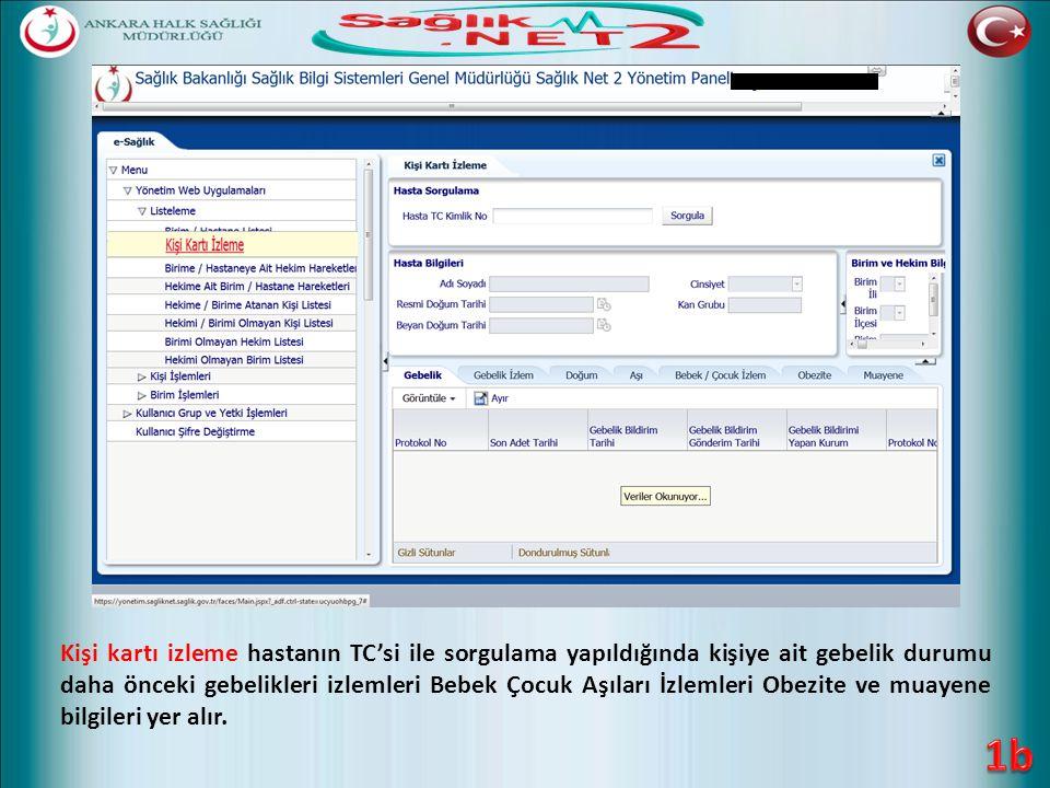 Sorgula Aşı Takvimi Oluştur Kaydet Aşı Takvimi Ekleme / Güncelleme Hastanın TC'si yazılarak Sorgula butonuna tıklanır.