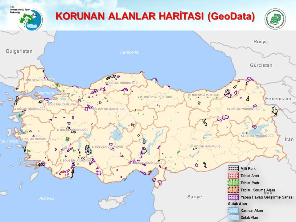 KORUNAN ALANLAR HARİTASI (GeoData)