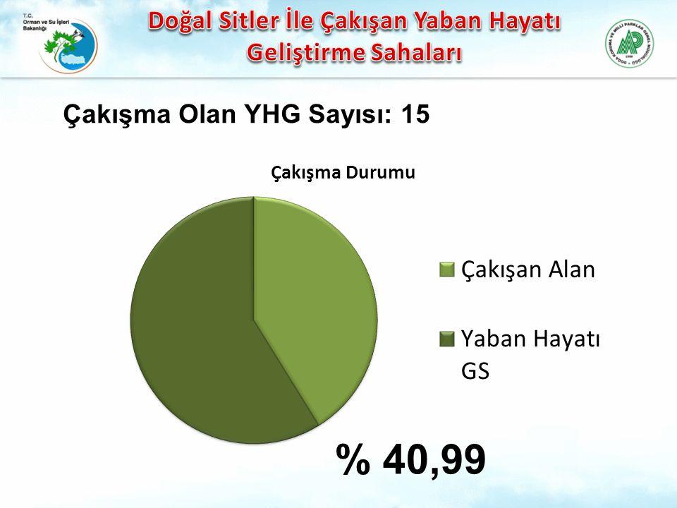 % 40,99 Çakışma Olan YHG Sayısı: 15