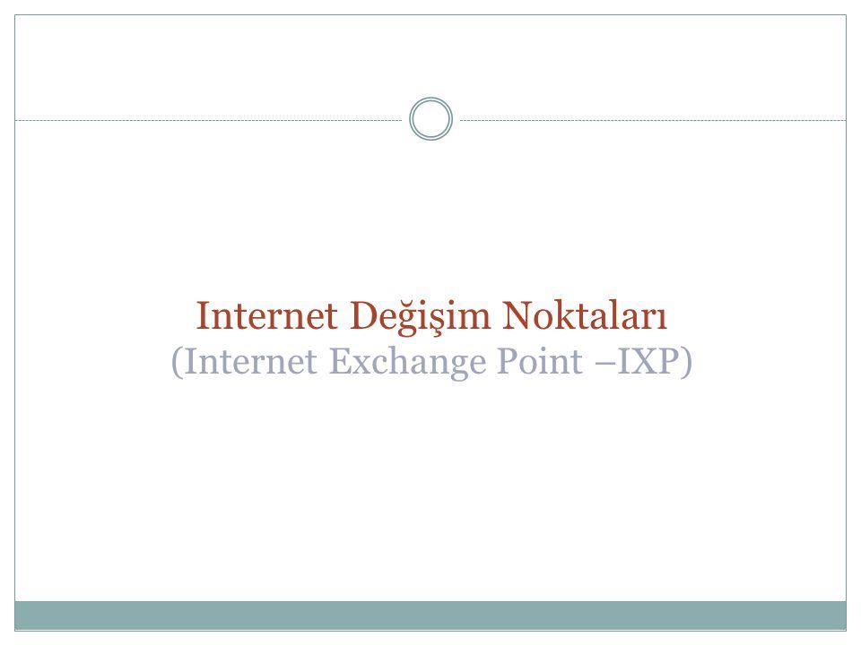 Internet Değişim Noktaları (Internet Exchange Point –IXP)