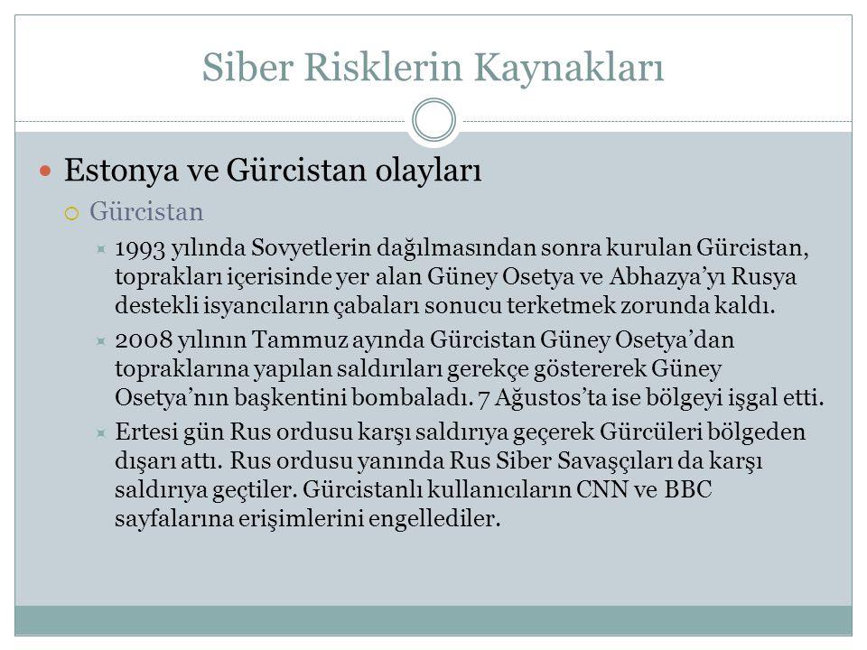 Siber Suçlar – Türkiye'de Neler Yapılmalı  Botnet'lerle Mücadele  Botnet'leri tespit eden yazılımların bulunduğu bir site açılmalıdır.