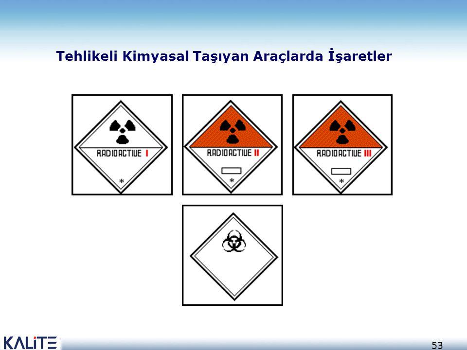 53 Tehlikeli Kimyasal Taşıyan Araçlarda İşaretler