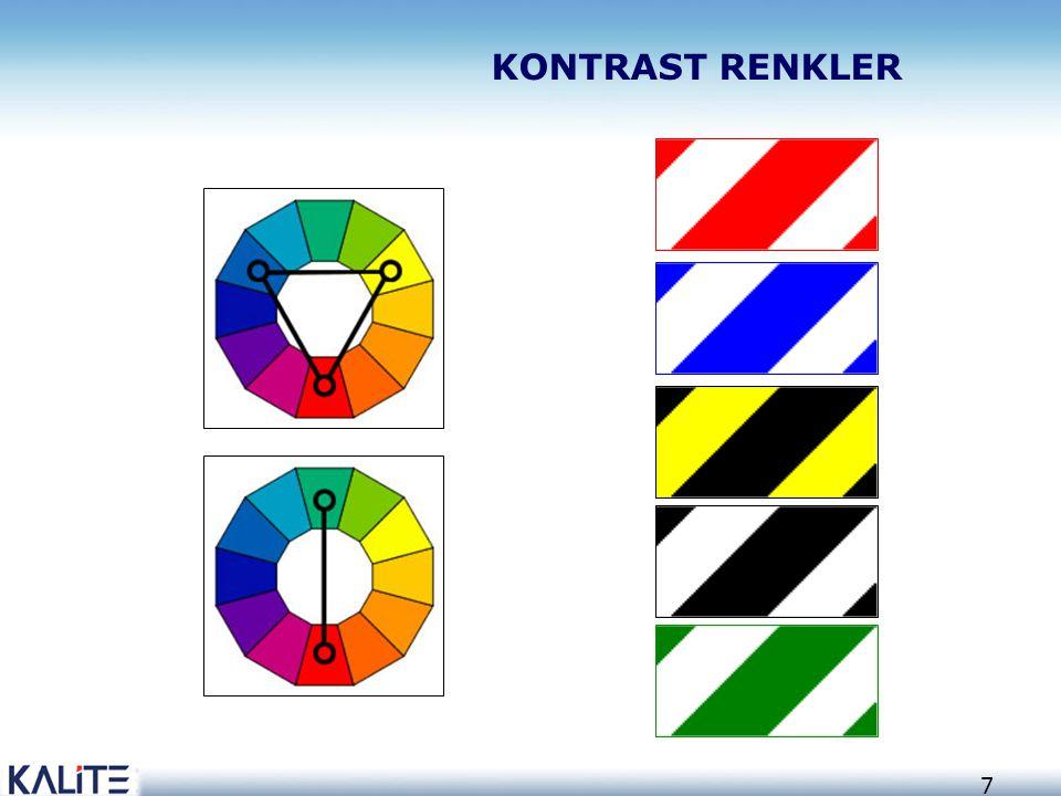 38 Borularda tanıtım renkleri