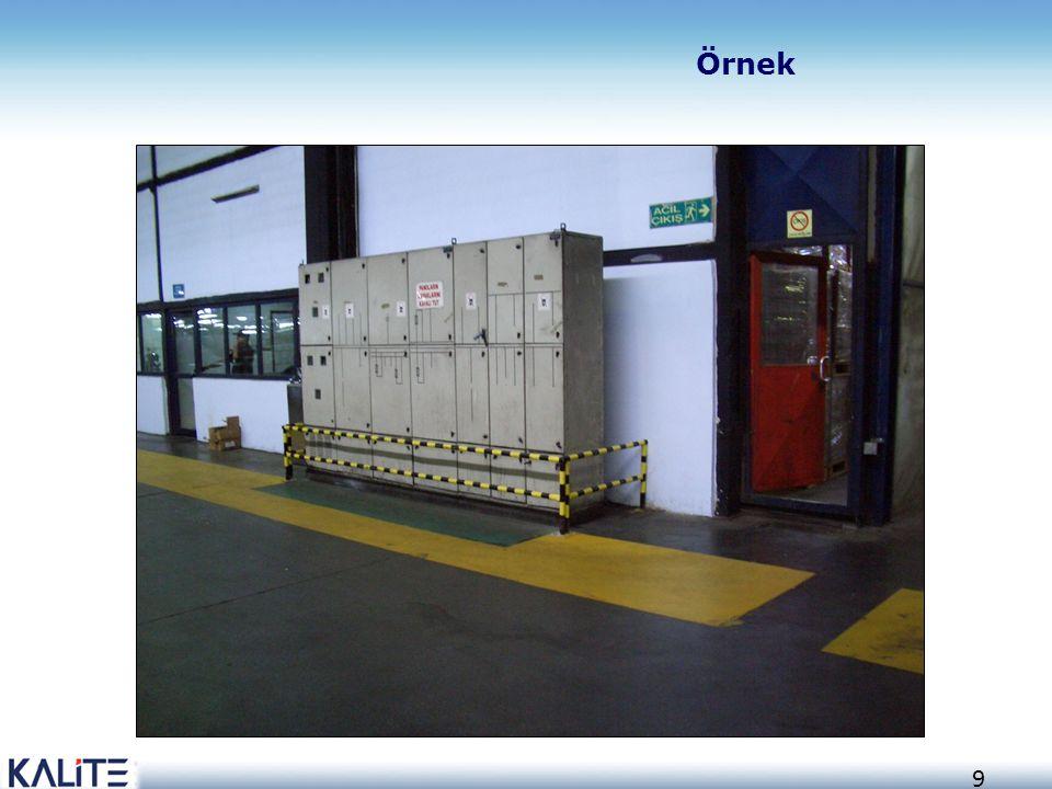30 RAL 2003 Buhar boruları için bant rengi RAL 5015 Hava boruları RAL 5012 Enstrüman havası RAL 5017 Normal – basınçlı hava RAL 9011 Diğer borular RAL 7002 Havalandırma ve tahliye boruları RAL 6011 Azot boruları RAL 9003 Akaryakıt RAL 9006 Su buharı Borularda tanıtım renkleri
